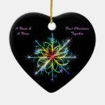 Homosexuelles Weds eben erste Weihnachtsornament