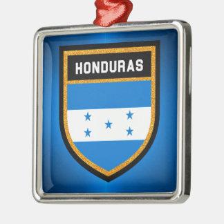 Honduras-Flagge Silbernes Ornament