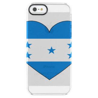 Honduras-Flaggen-Herz Durchsichtige iPhone SE/5/5s Hülle