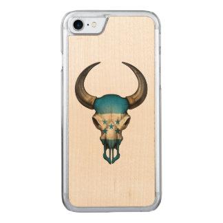 Honduras-Flaggen-Stier-Schädel Carved iPhone 8/7 Hülle