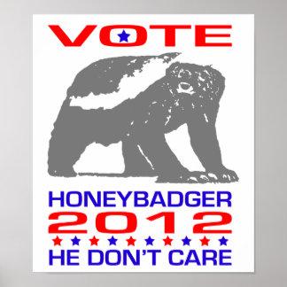 Honeybadger 2012 - Politisches Spaß-Plakat