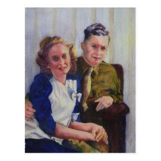 Honeymooners-Postkarte Postkarte