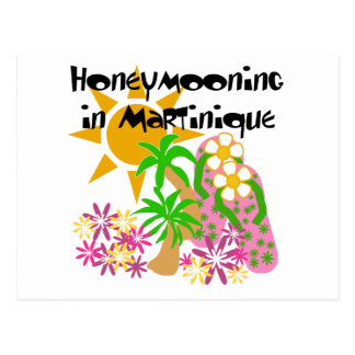 Honeymooning in Martinique Postkarte