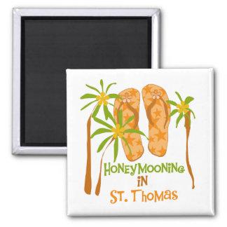 Honeymooning in St- Thomasmagneten Quadratischer Magnet