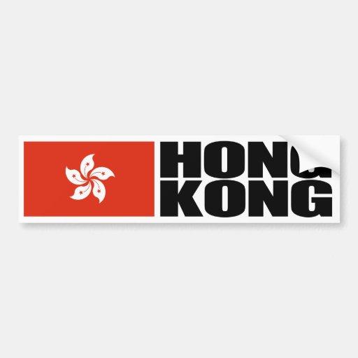 Hong Kong-Flagge Autosticker