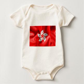 Hong Kong-Flagge Baby Strampler