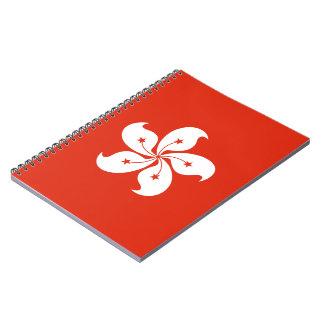 Hong Kong-Flagge Spiral Notizblock