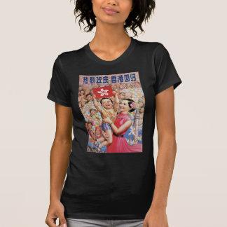 Hong Kong-Flaggen-Plakat T-Shirt