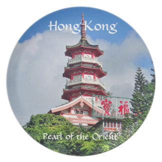 Hong Kong-Perle der Orient-Melamin-Platte Melaminteller