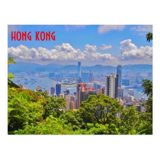 Hong Kong-Postkarte