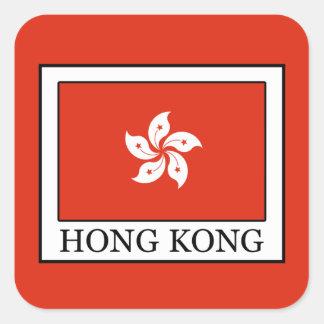 Hong Kong Quadratischer Aufkleber