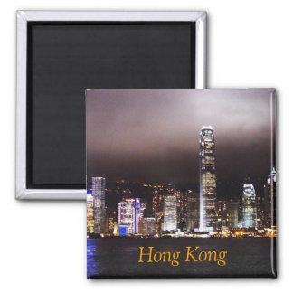 Hong Kong-Skyline-Magnet Quadratischer Magnet
