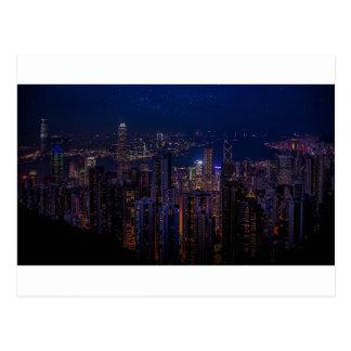 Hong Kong-Skyline Postkarte