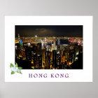Hong Kong-Stadtbild-Reise-Plakat Poster