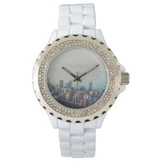 Hong Kong von oben Armbanduhr