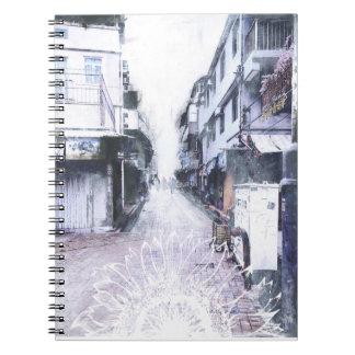 Hong Kongblumennotizbuch Notizblock