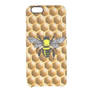 Honig-Biene auf Bienenwaben-Imker-Fall Durchsichtige iPhone 6/6S Hülle