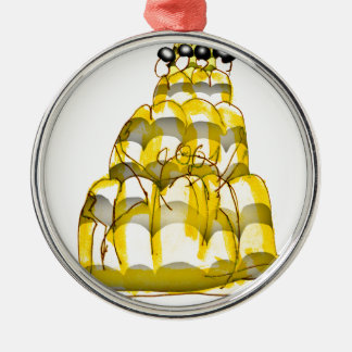 Honig-Biene jello der tony fernandess Rundes Silberfarbenes Ornament