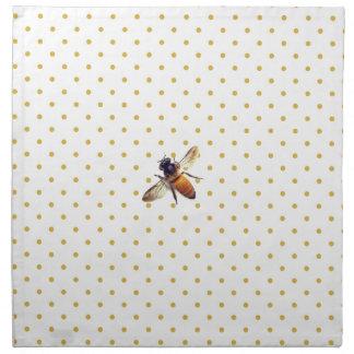 Honig-Biene mit GoldTupfen Stoffserviette