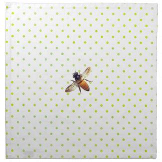 Honig-Biene mit grünen Tupfen Serviette