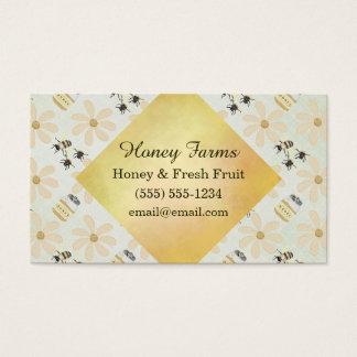 Honig-Biene und Blume Visitenkarte