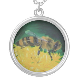 Honig-Biene Versilberte Kette