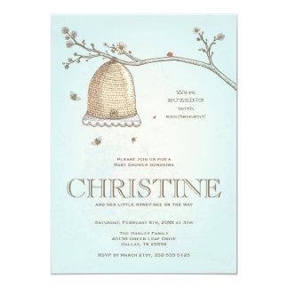 Honig-Bienen-Babyparty-Einladung Karte