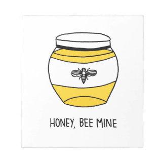Honig, Bienen-Bergwerk Notizblock