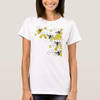 Honig-Bienen-Bienenwaben-Shirt T-Shirt