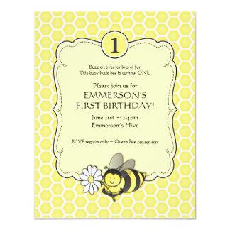 Honig-Bienen-Geburtstag laden ein 10,8 X 14 Cm Einladungskarte