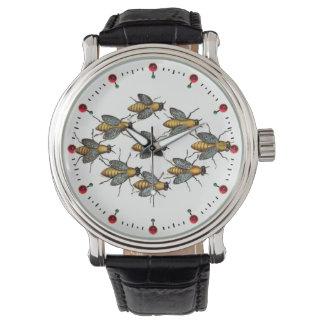 HONIG-BIENEN-/IMKER-IMKEREI Weiß Armbanduhr