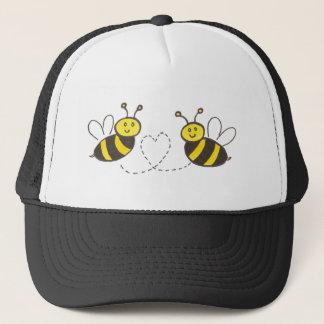 Honig-Bienen mit Herzen Truckerkappe