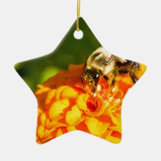 Honig-Bienen-orange Gelb-Blume mit Keramik Ornament