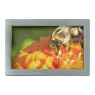 Honig-Bienen-orange Gelb-Blume mit Rechteckige Gürtelschnalle