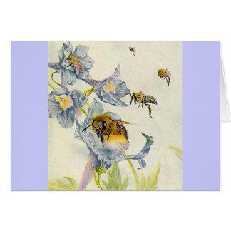 Honig-Bienen-u. Wildblumen-Flieder danken Ihnen Karte
