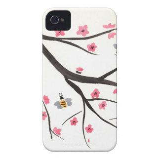 Honig-Bienen und Kirschblüten iPhone 4 Hüllen