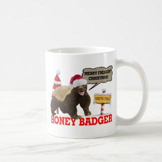 Honig-Dachs frohe Freakin Weihnachten Kaffeetasse