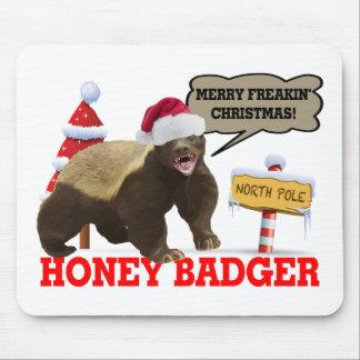 Honig-Dachs frohe Freakin Weihnachten Mousepad