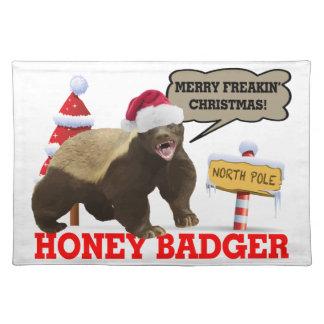 Honig-Dachs frohe Freakin Weihnachten Tischset