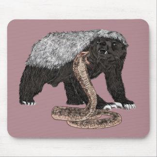 Honig-Dachs-Gesichts-Schlangen-furchtloser Mousepad