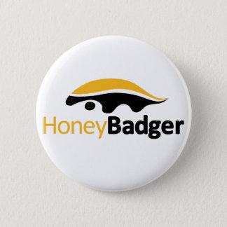 Honig-Dachs-Logo Runder Button 5,1 Cm
