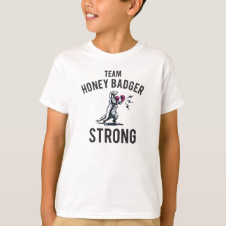 Honig-Dachs-starke Kinder T-Shirt