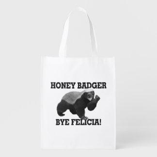 Honig-Dachs-Tschüss Felicia Wiederverwendbare Einkaufstasche