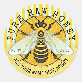 Honig-Glas beschriftet | Runder Aufkleber