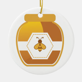 Honig-Glas Keramik Ornament