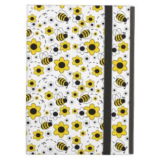 Honig-Hummel-Bienen-Hummel-Mädchen-Gelb mit Blumen