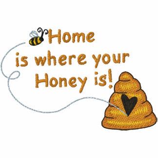 Honig ist Zuhause Besticktes Polo Hemd