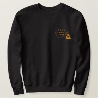 Honig ist Zuhause Besticktes Sweatshirt