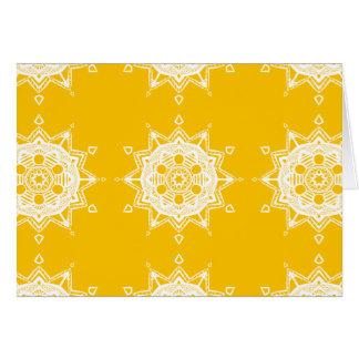 Honig-Mandala Grußkarte