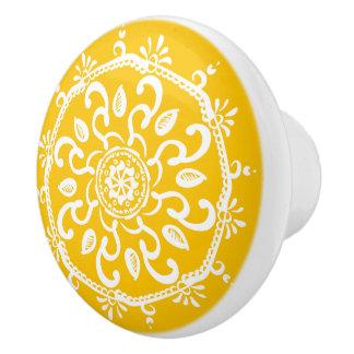 Honig-Mandala Keramikknauf